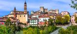 Pictorial medieval village(borgo) Castiglione d'Asti in Piemonte