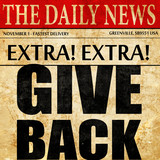 give back, newspaper article text