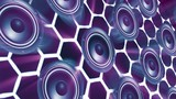 disco dancing loud speakers abstract background