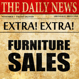 furniture sales, newspaper article text