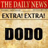 Dodo, newspaper article text