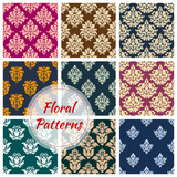 Ornamental floral seamless pattern background