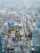 An aerial view of downtown Toronto in Canada.