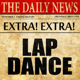 lap dance, newspaper article text