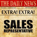 sales representative, newspaper article text