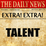 talent, newspaper article text