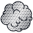 silhouette pop art cloud dotted for dialogue vector illustration