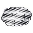 contour cloud callout pop art for dialogue with cumulus . Vector illustration