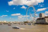 London eye, large Ferris wheel, London - 135134678