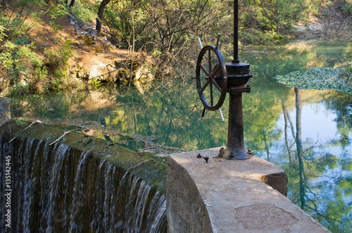 Poster Dam in 7 Springs, Rhodes, Greece