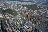Claremont village. New York. Bronx. Helicopter view  - 135157678