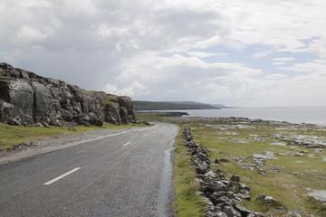 oceano atlantico scogliera irlandese Irlanda nord Europa