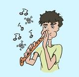 Muziek spelen op fluit