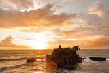 Sunset at Tanah Lot temple. Bali island, Indonesia.