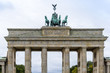 Brandenburg Gate (Brandenburger Tor), famous landmark in Berlin,