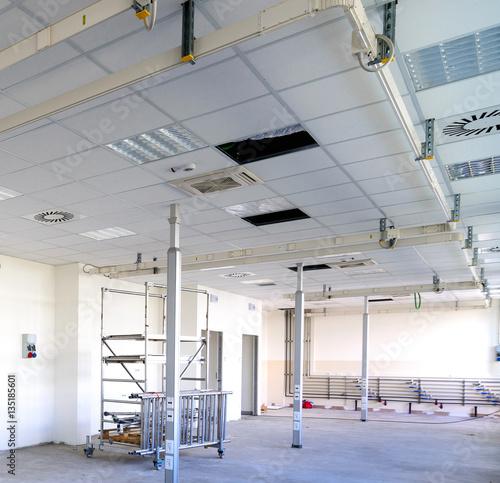 Foto Murales Edificio industriale in costruzione