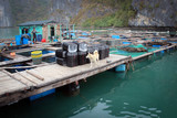 Fishing village at Ha Long Bay, Vietnam