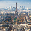 above view of Eiffel Tower and champ de mars
