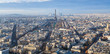 above view of Eiffel Tower in Paris city in winter