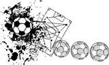 Soccer / Football design template,free copy space, B/W vector illu