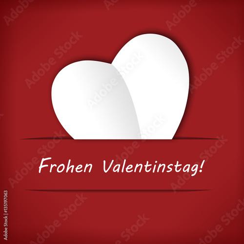 Poster Frohen Valentinstag