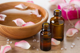 Essential roses oil for aromatherapy,pink roses petals