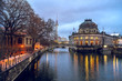 View at Museum Island in Berlin at dusk.
