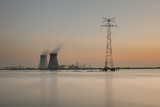 Illustration picture shows sunset over the nuclear power plant of Doel, on Tuesday 13 September 2016, Antwerp, Belgium.