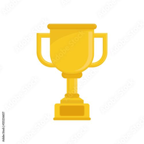 Foto op Canvas Cup trophy championship icon vector illustration graphic design