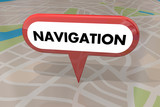 Navigation Travel Transportation Pin Map Word 3d Illustration