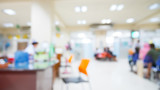 Abstract hospital in blur background. - 135269081
