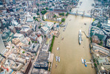 London buildings along river Thames - UK - 135282485