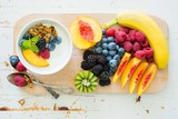 Breakfast with fresh fruits and berries