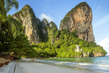 Panorama of Railay beach in Krabi province, Thailand