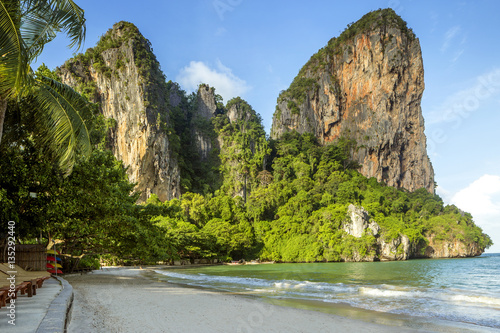 Panorama of Railay beach in Krabi province, Thailand Poster