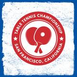 Fototapety ping pong emblem. table tennis logotype template