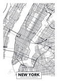 Fototapety Vector poster map city New York