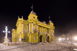 Croatian National Theater in the evening