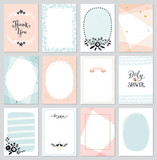 Fototapety Contemporary universal cards templates.  Design for invitations, posters, placards, brochures and flyers.