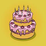 Fototapety Cake pop art style hand drawn vector