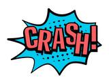 Crash! speech bubble in retro style