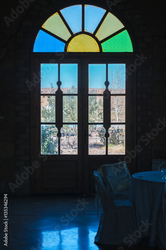view from the window , desert  - 135346294