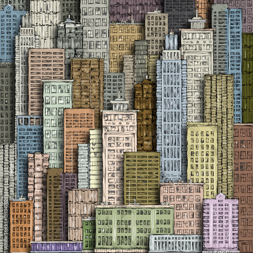 Cityscape Building Line art Illustration - 135347021