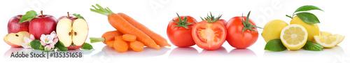 Obst und Gemüse Früchte Apfel Tomaten frische Freisteller frei