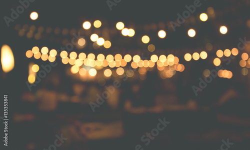 abstract blurred restaurant lights background
