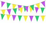 Mardi gras bunting flags. Vector