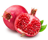 Pomegranate isolated on white background - 135364866