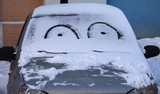 Funny face on car