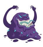 evil fearful black goo monster