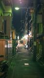 Random street at night in Kyoto city